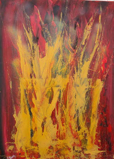Flame of passion 50 x 70 cm 2019